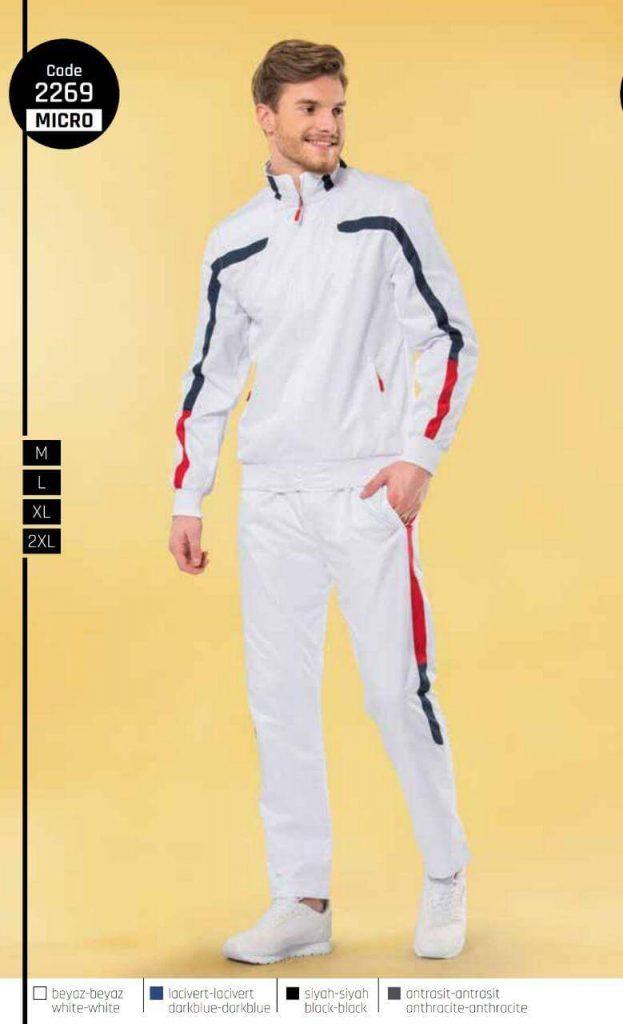 لباس ورزشی سفید رنگ ترک
